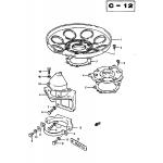 Oil seal housing / bracket , motor (7)
