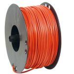 Kabel, PVTAU, diameter 9,9 mm, Röd - 25 mm2